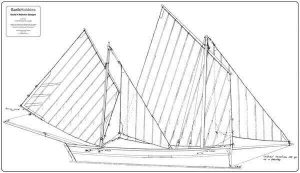 Lady Ma (Small Katie-Mevagissey Lugger) - By David Alderton  (SET)|Lady Ma (Small Katie-Mevagissey Lugger) - By David Alderton  (SET)