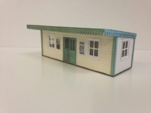 Plywood O Gauge Low Relief Waiting Room